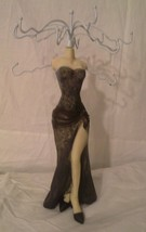 New Manequin In Evening Gown Ceramic Jewelry Ho... - $9.68
