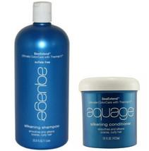 Aquage Silkening Shampoo 33.8 Oz & Conditioner 16 Oz Set - $82.99