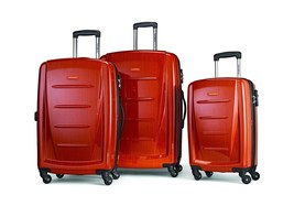 Samsonite Winfield 2 Hardside Luggage Spinner Wheels 3 Pc Set Orange 568... - $351.76