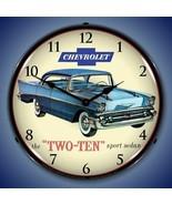 New 1957 antique Chevrolet 210 sports sedan car LIGHTED clock Fast Ship ... - $159.95
