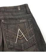 7 For All Mankind 7FAM A Pocket Black Rhinestone Boot Cut Jeans Womens 2... - $24.59
