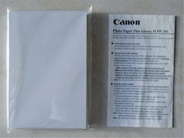"Canon Photo Paper Plus Glossy II PP-201, 4""x 6"", 50 Sheets sealed package - $5.00"