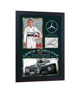 new 6 Time World Champion 2019 Lewis Hamilton signed autographed F1 FRAMED - $21.54