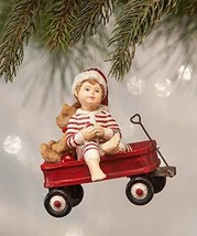 Bethany Lowe Wally in Red Wagon  Resin Christmas Ornament NWT - $29.65