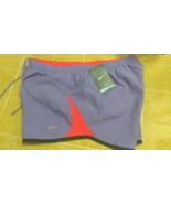 New Nike Unisex All Sports Shorts Purple Red Design Sz L  - $20.00