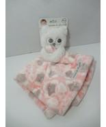 Blankets & Beyond Owl Security Blanket Pink White Gray Lovey Nunu NEW - $19.79