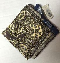 NEW VTG  Polo Ralph Lauren Brown Paisley Silk Italy Pocket Square Handke... - $69.95