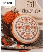 Fall Shaker Box cross stitch chart Jeanette Douglas Designs - $7.00