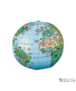 Inflatable Animal World Globe Beach Bal - $18.11