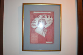 "Rio Rita ""You're Always in my Arms"" 1929 sheet music framed incl sheets ... - $48.51"