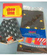 Show Time Movie Party Treat-Bags Invitations Table-Cover Lot of 4 Black ... - $12.95