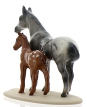Hagen-Renaker Miniature Ceramic Horse Figurine Appaloosa Mare and Colt on Base image 6