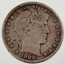 1908-S 50C Barber Half Dollar in Fine Condition, Natural Color - $83.20