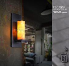 Vintage Black Metal Marble Shade Sconce E27 Light Wall Lamp Cafe Lighting Fixtur - $62.72