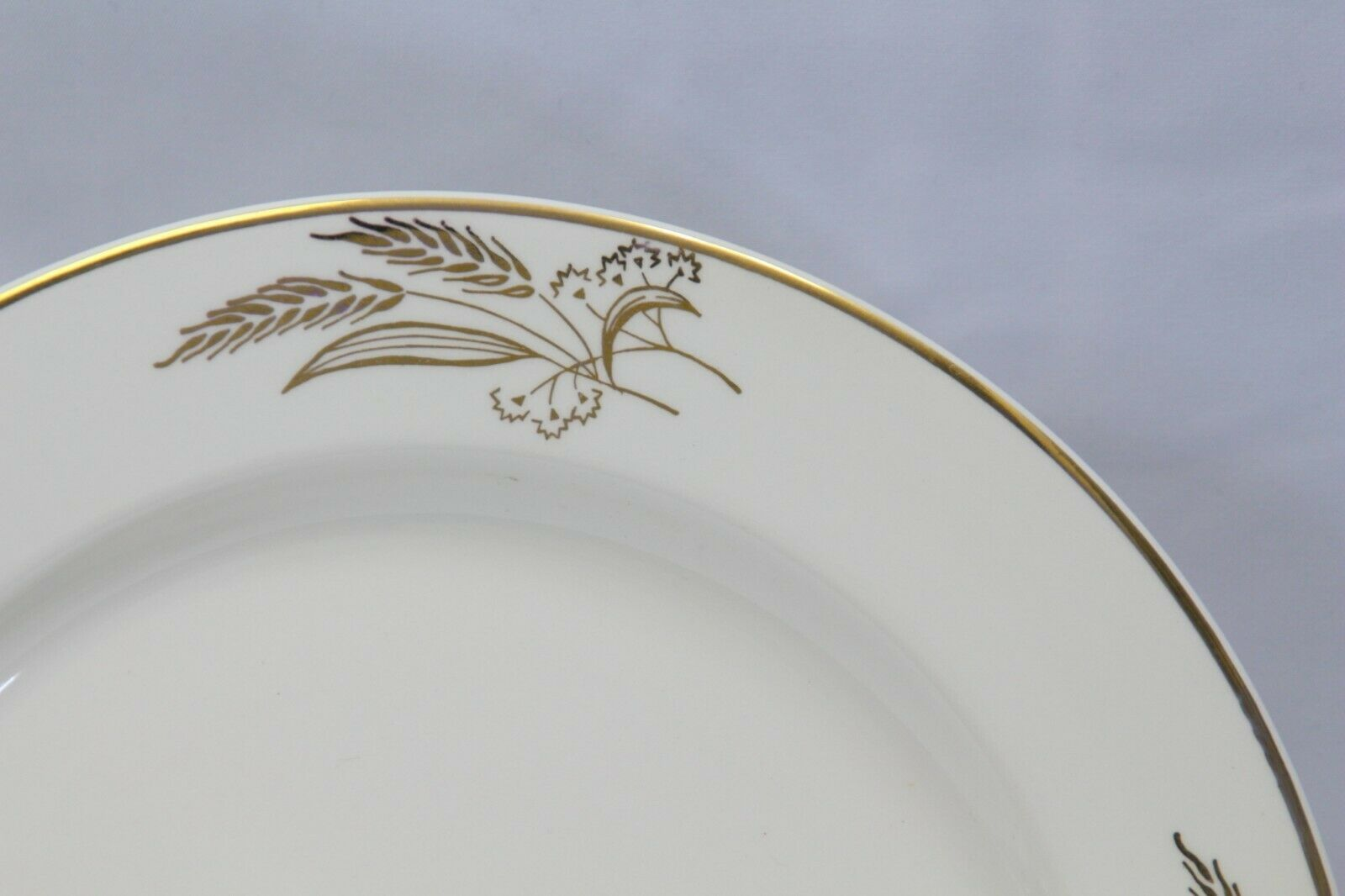 "Lifetime China Prairie Gold Dinner Plates 10.25"" Lot of 6 image 2"