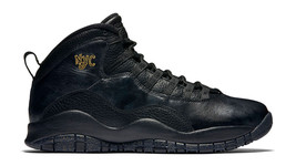 NIKE AIR JORDAN RETRO 10 NYC BLACK/GOLD MEN SIZE 9.5 NEW 310805 012 - $158.94