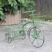 """Tricycle Plant Stand with Two Baskets (24""""L x 11.25""""W x 17.5""""T) (Green) - $59.95"""