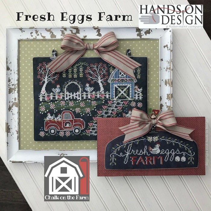 Primary image for Fresh Eggs Farm #1 Chalk On The Farm Series cross stitch Hands On Design