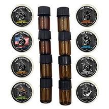 Badass Beard Care Trial Kit For Men - 8 Packs, Trial Sizes of Beard Balm & Beard image 1
