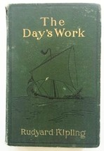 Rudyard Kipling A Day's Work 1898 Antique Vintage Weathered Hardcover Book - $13.85