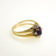 Cardow 14k Tanzanite and Diamond Reversible Ring UK Size O1/2 BHS - $739.34