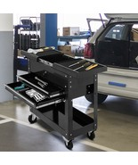 Cart Tool Toolscoot Workstation Slide Top Storage Cabinet Organizer 2 Dr... - $226.71