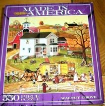 Jigsaw Puzzle 550 Pieces Americana Folk Art Horses Wagons Farm Windmill ... - $13.85