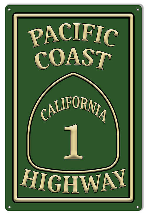 Primary image for Pacific Coast Highway 1 Garage Shop Metal Sign 12x18