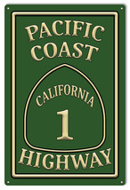 Pacific Coast Highway 1 Garage Shop Metal Sign 12x18 - $25.74