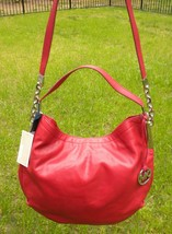 Michael Kors Glazed Red Leather Large Chain Julian Convertible Shoulder ... - $147.51