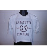 Vintage 90s 1990 Lafayette College Easton PA Cropped T-Shirt Fits Small - $34.99