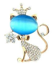 Blue Cat Brooch Female Fashion Jewelry Brooch Female Accessories Pins