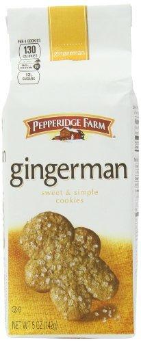Pepperidge Farm Gingermen Cookies, 5-ounce (pack of 4)