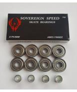 8 Pack Abec7 Skate Bearings + Spacers-8mm roller skates skateboard 608 l... - $16.99