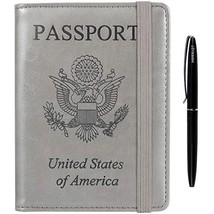 Passport Holder Cover wallet Case-Leather RFID Blocking Travel Document ... - $11.68