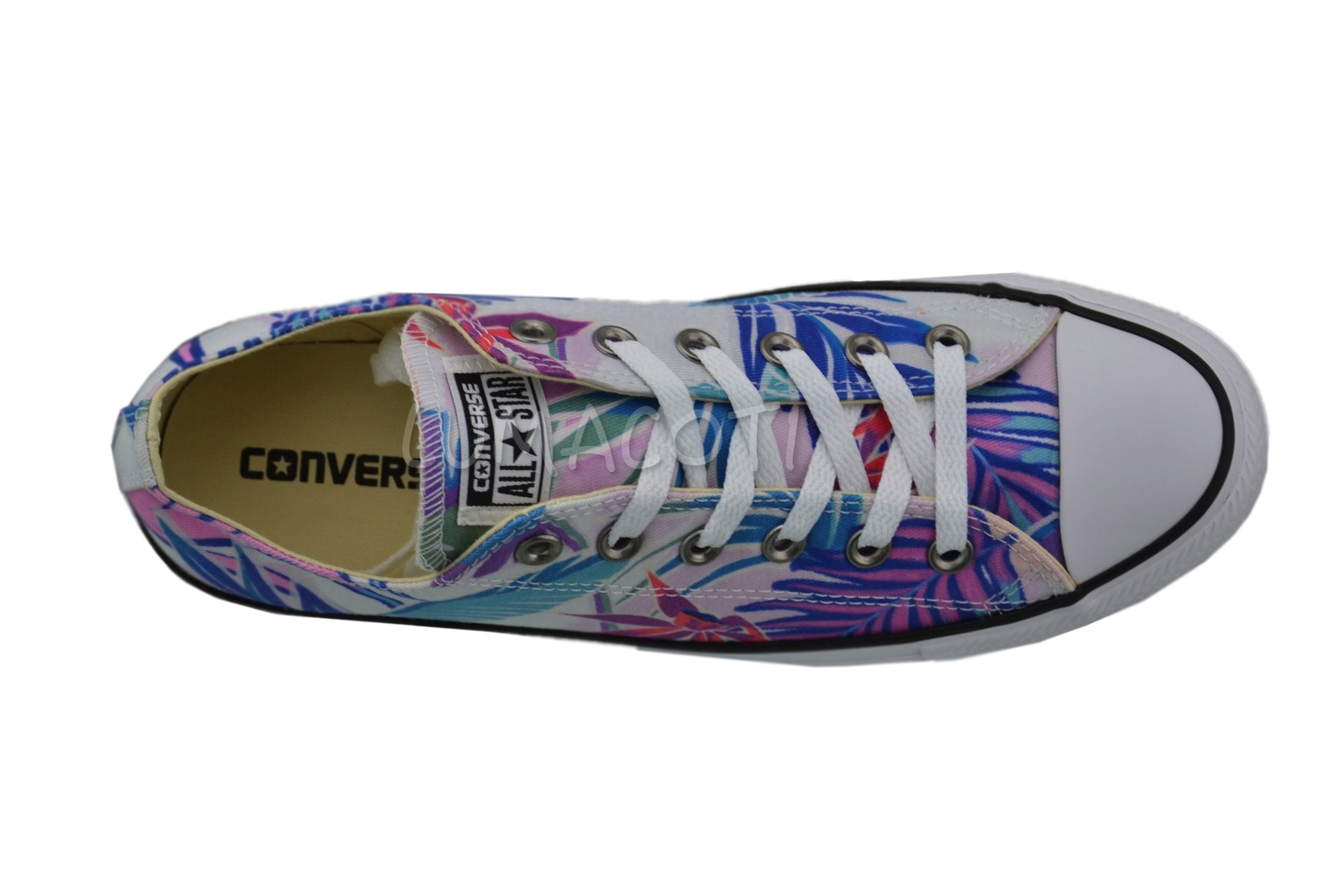 Converse Chuck Taylor All Star Tropical White Low Top Canvas Sneakers 155396F