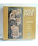 "SunsOut 1000 Piece Jigsaw Puzzle 47108  Wolf Pack by Judi Rideout  16"" x... - $14.80"