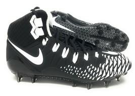 Nike Force Savage Pro Black/White Mens Football Cleats Size 11.5 880144-... - $80.00