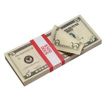 PROP MOVIE MONEY - New Style $5 Full Print Prop Money Stack - $14.00