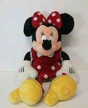"Disney Store Minnie Mouse 20"" Plush Stuffed Animal Red Polka Dot Dress - $20.95"