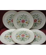 "Set of Six (6) LENOX Ivory China - CASCADE Pattern W-319 - 10"" DINNER PL... - $64.95"
