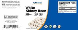 Nutricost White Kidney Beans Capsules 650mg 120 Capsules - Veggie Caps, Gluten F image 6