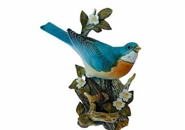 Bluebird Figurine Homco Home Interior Gift Blue Bird masterpiece porcela... - $120.94