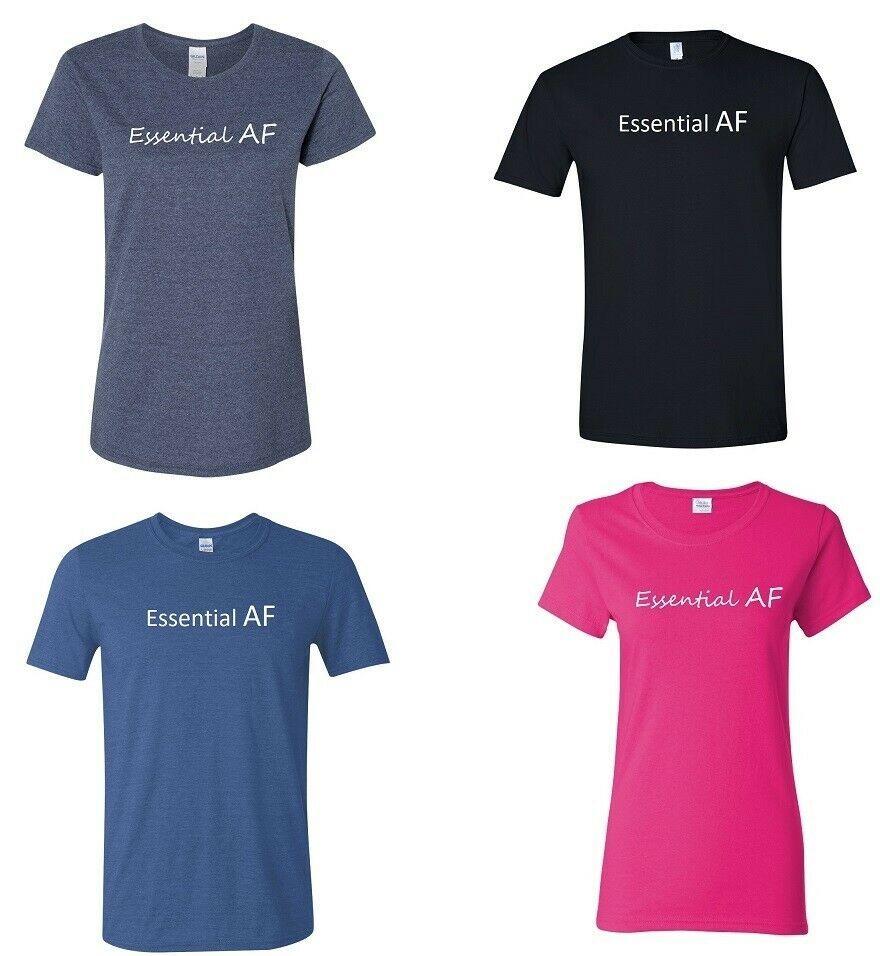 Essential AF Worker Funny Men's and Ladies Quarantine Virus T-Shirt - £6.79 GBP - £8.95 GBP