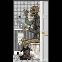 Funny ZOMBIE TOILET BATHROOM DOOR COVER Wall Poster Walking Dead Prop De... - $4.92