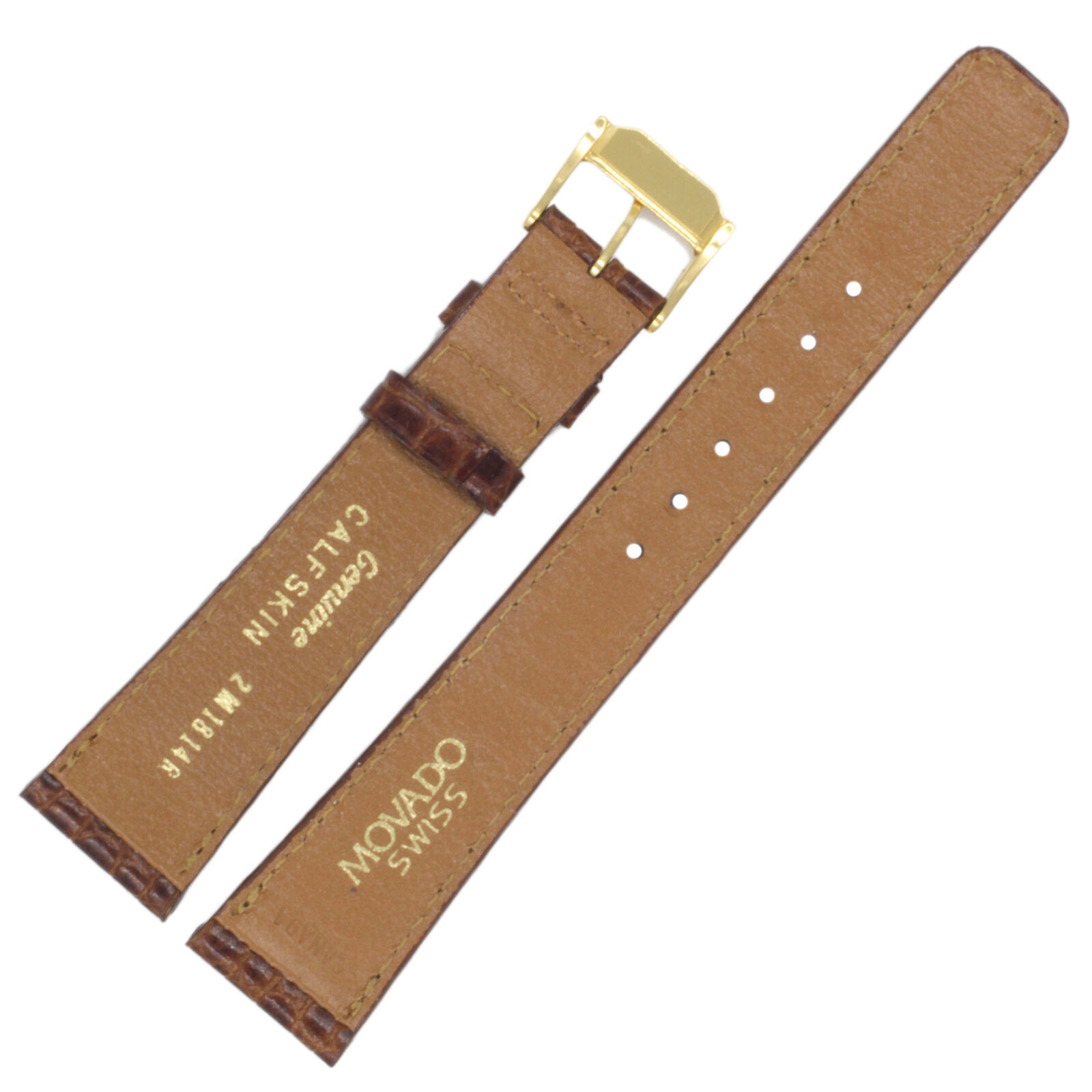 Movado 18-14mm Brown Calf Leather Ladies Watch Band 2M1814R