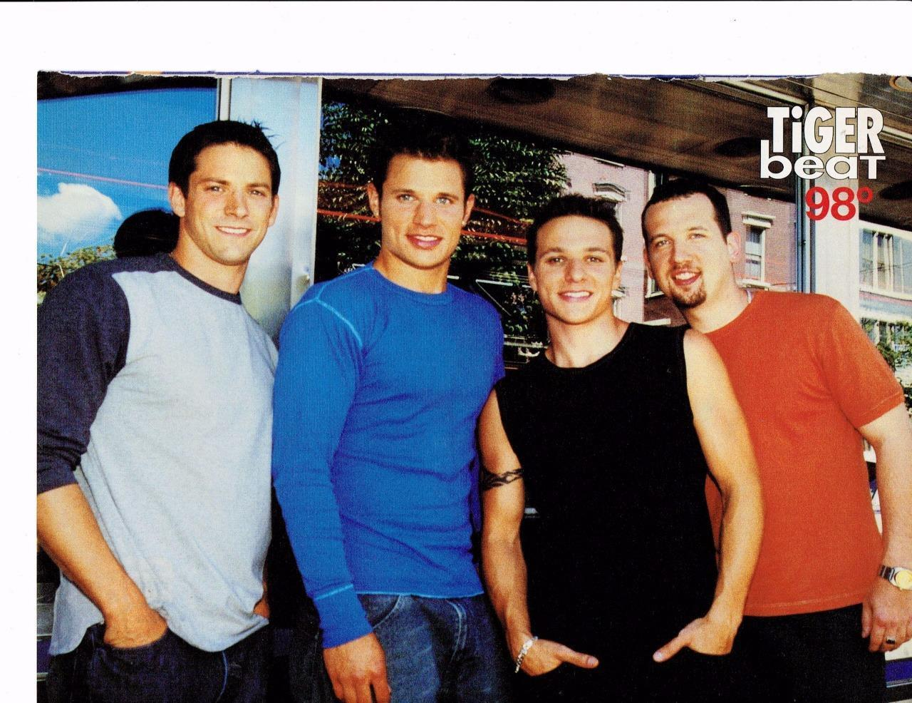 98 Degrees teen magazine pinup clippings Tiger Beat Nick Lachey Muscles