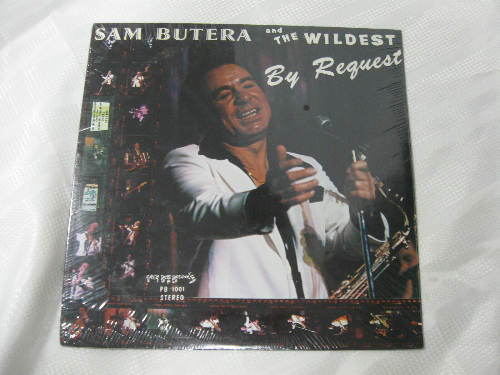 Sam Butera By Request Poor Boy PB1001 Vinyl Record Sealed LP SIGNED Cindy