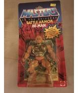 1983 VINTAGE MASTERS OF THE UNIVERSE BATTLE ARMOR HE-MAN MATTEL 7302, Ne... - $949.99