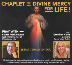 CHAPLET OF DIVINE MERCY - CD With Father Frank Pavone and Gretchen Harris